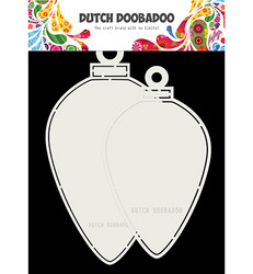 Dutch DooBaDoo Card Art Christmas Baubles Oval -sapluuna