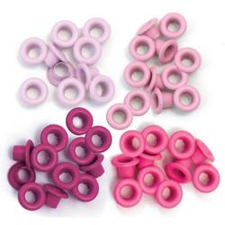 We R Eyelets Standard, sirkat, 60 kpl, pinkki