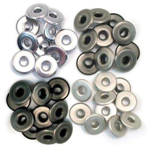 We R Eyelets Wide, sirkat, 40 kpl, kylmä metalli