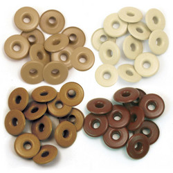 We R Eyelets Wide, sirkat, 40 kpl, ruskea