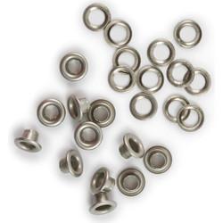 We R Eyelets & Washers Standard, sirkat prikkoineen, 30 kpl, nikkeli