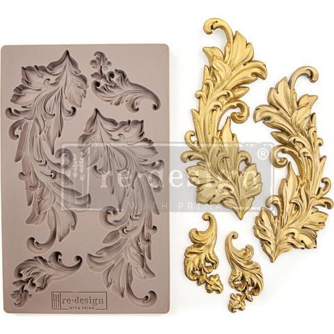 Prima Re-Design Decor Mould -muotti Baroque Swirls