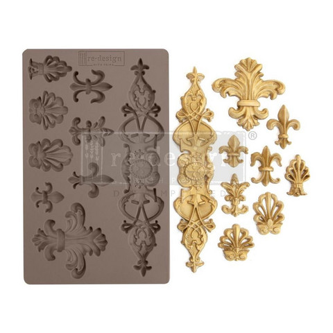 Prima Re-Design Decor Mould -muotti Fleur De Lis