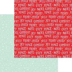 My Minds Eye Holly Jolly skräppipaperi Comfort & Joy