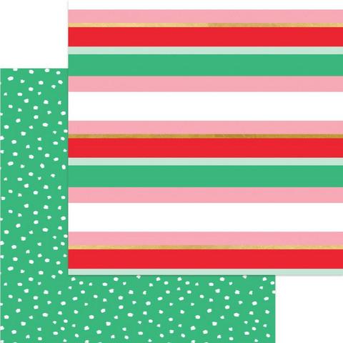 My Minds Eye Holly Jolly skräppipaperi Merry Stripe