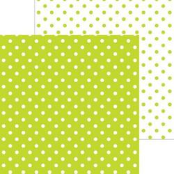 Doodlebug skräppipaperi Citrus Swiss Dot