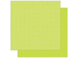 Doodlebug skräppipaperi Citrus Gingham Linen