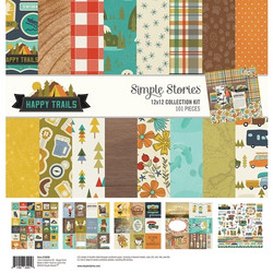 Simple Stories Happy Trails Collection Kit -paperipakkaus, 12