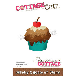 CottageCutz stanssi Birthday Cupcake with Cherry