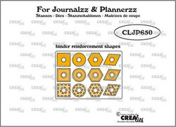 Crealies stanssi Journalzz & Plannerzz Binder Reinforcement Shapes