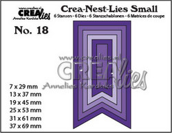 Crealies stanssisetti Fishtail Banner, smooth