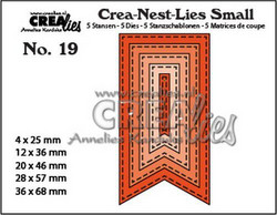 Crealies stanssisetti Fishtail Banner, with stitch