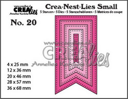 Crealies stanssisetti Fishtail Banner, with dots