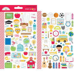Doodlebug Mini Icons tarra-arkki School Day