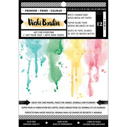 Vicki Boutin Mixed Media Foundations -paperipakkaus, smooth, valkoinen