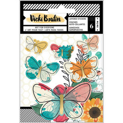 Vicki Boutin Wildflower & Honey Layered -tarrat Vellum Butterflies W/Gold Foil Accents