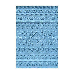 Sizzix 3-D Textured Impressions A6 kohokuviointikansio Folk Art Pattern by Courtney Chilson