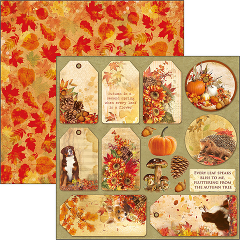 Ciao Bella The Sound Of Autumn -skräppipaperi Autumn Tags