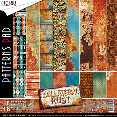 Ciao Bella Patterns Pad paperipakkaus Collateral Rust, 12