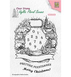 Nellie's Choice leimasinsetti Christmas Wreath