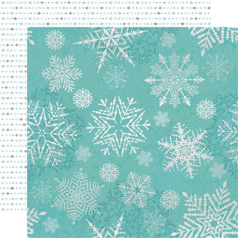 Kaisercraft Let It Snow skräppipaperi Falling Snowflakes