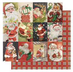 Authentique Rejoice skräppipaperi Cut-Apart Images Vintage Santa
