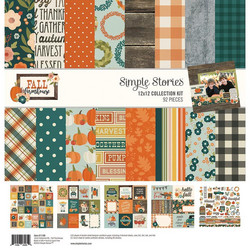 Simple Stories Fall Farmhouse Collection Kit -paperipakkaus, 12