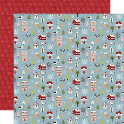 Simple Stories Holly Jolly skräppipaperi Winter Wonderland