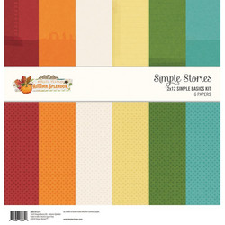 Simple Stories Autumn Splendor Basics Kit  -paperipakkaus, 12