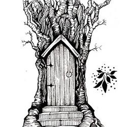 Lavinia Stamps leimasinsetti Fairy Door