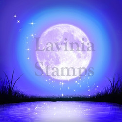 Lavinia Stamps SceneScapes taustapaperi Moonlight glow