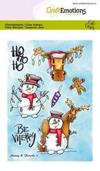 CraftEmotions Carla Creaties leimasinsetti Snowy & Friends 1