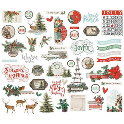 Simple Stories Country Christmas Bits & Pieces Die-Cuts, leikekuvat, 49 kpl