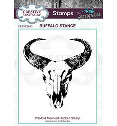 Creative Expressions Andy Skinner Buffalo Stance -leimasin