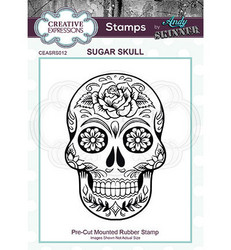 Creative Expressions Andy Skinner Sugar Skull -leimasin