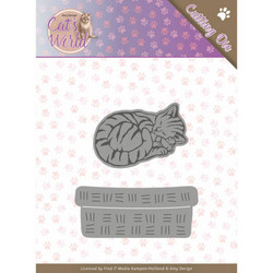 Amy Design Cat's World stanssisetti Sleeping Cat