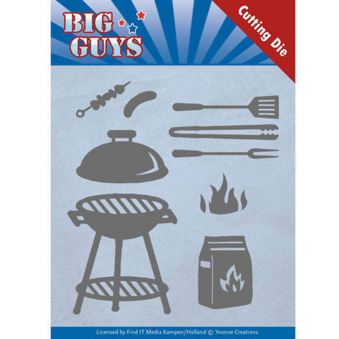 Yvonne Creations Big Guys stanssisetti BBQ Time
