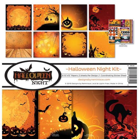 Reminisce Halloween Night -paperipakkaus 12