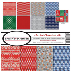 Reminisce Santa's Sweater -paperipakkaus 12