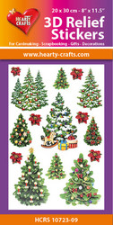 Hearty Crafts 3D Relief -tarrat, Christmas Trees