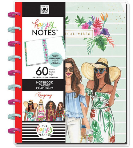 Mambi Classic Happy Notes -muistikirja, Rongrong, Tropical Vibes