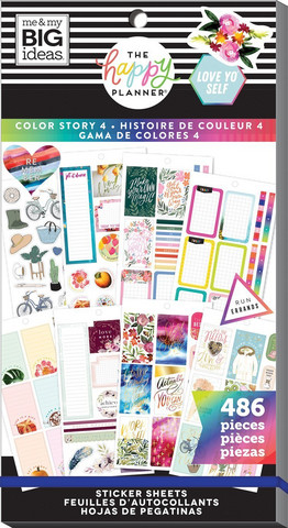 Mambi Happy Planner Value -tarrapakkaus Color Story 4