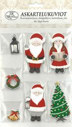 Askartelukuviot Joulupukki ja tontut
