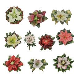 Valmiiksi leikattuja 3D kuvia, Christmas Flowers 2