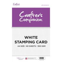 Crafter's Companion White Stamping -kartonki, A4, 60 arkkia