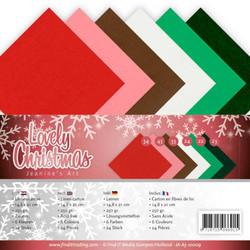Jeanines Art Lovely Christmas kartonkipakkaus, A5