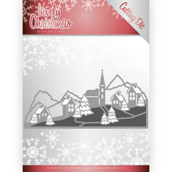 Jeanines Lovely Christmas stanssi Lovely Christmas Landscape
