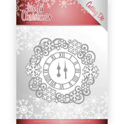 Jeanines Lovely Christmas stanssisetti Lovely Clock Frame