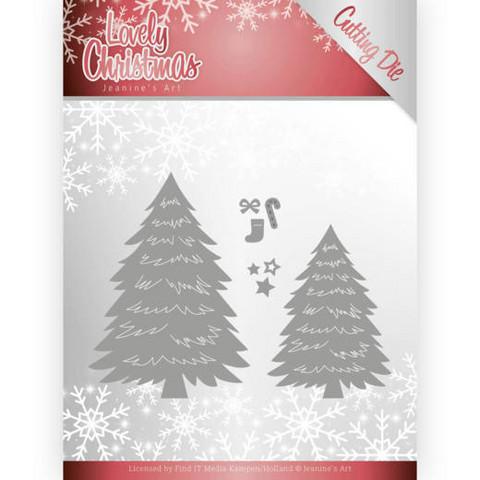 Jeanines Lovely Christmas stanssisetti Lovely Trees