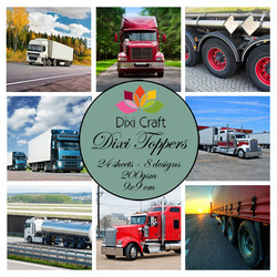 Dixi Craft Dixi Toppers Trucks, korttikuvat